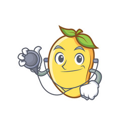 Doctor mango character cartoon mascot vector