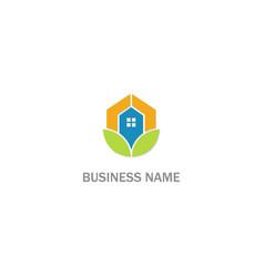 eco home realty company logo vector image