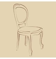 Elegant sketched chair vector