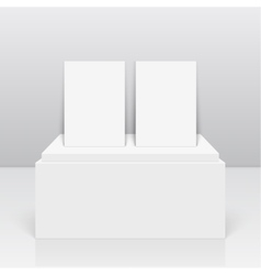 Empty blank on podium vector