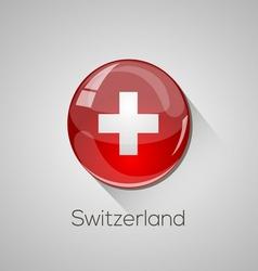 European flags set - Switzerland vector
