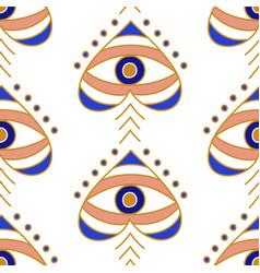 evil eyes seamless pattern vector image