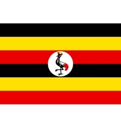 Flag of Uganda in correct proportions and colors vector