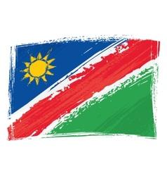 Grunge Namibia flag vector image