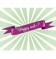 happy end vector image