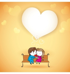 Happy loving Couple on Love Background vector image