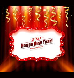 happy new year 2021 background vector image