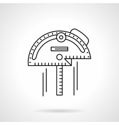 Inclinometer flat thin line icon vector image