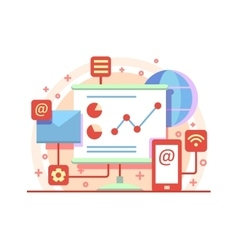 Internet marketing concept vector image