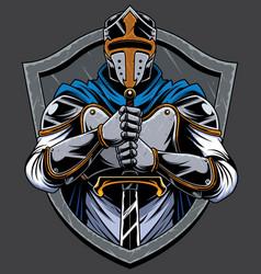 knight templar mascot vector image