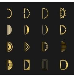 Letter D set vector
