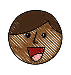 Little african boy head character vector