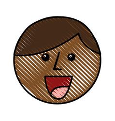 Little african boy head character vector