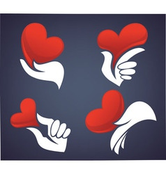 love and hands vector image