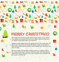 Merry chistmas postcard vector