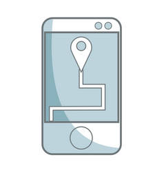 mobile gps navigation location pin concept vector image