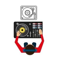 Music design dj icon White background vector image
