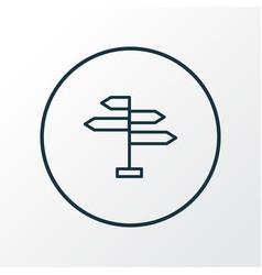 navigation sign icon line symbol premium quality vector image