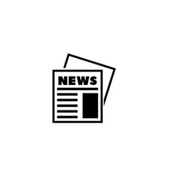 newspaper news journal flat icon vector image