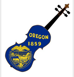 Oregon state fiddle vector