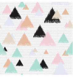 Pastel wallpaper with triangles vector