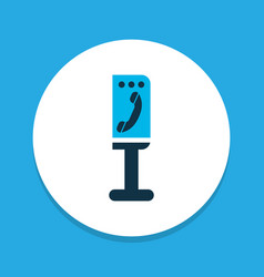 Payphone icon colored symbol premium quality vector