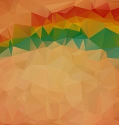 Polygonal retro mosaic background vector