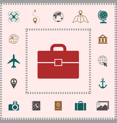 Portfolio icon symbol elements for your design vector