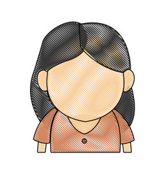 portrait woman character female avatar image vector image