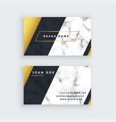premium marble business card design vector image