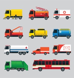 Public Utility Vehicles Object Set vector