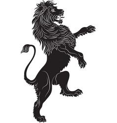 Rampant lion - the heraldic symbol vector