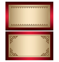 red and gold vintage backgrounds with brown vector image