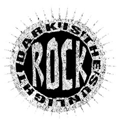 Rock style t shirt graphic design vector