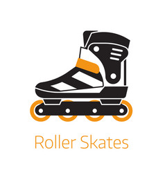 roller skates outline icon or logo template vector image