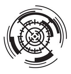 Scope target icon simple style vector