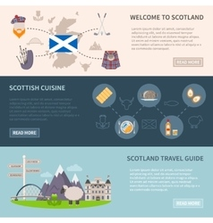 Scotland Banners Set vector