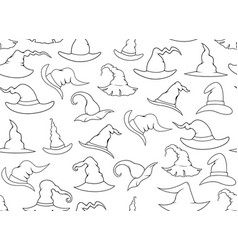 Seamless witch hats vector