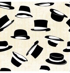 set hat in vintage style vector image
