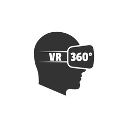 silhouette human head with virtual reality vector image