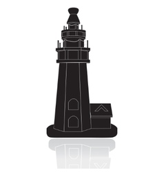 Silhouette of the lighthouse vector