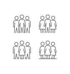 Simple set people icons vector