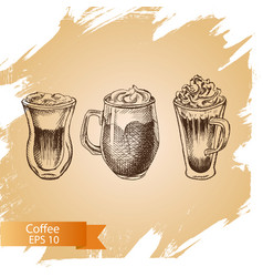 sketch - coffee vector image