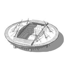 Sketch of the new stadium in saint-petersburg vector