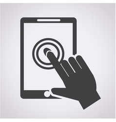 smartphone touchscreen icon vector image