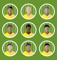 Soccer Game Players Icons Set vector