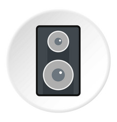 Subwoofer icon circle vector