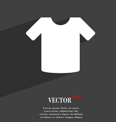 T-shirt Clothes icon symbol Flat modern web design vector