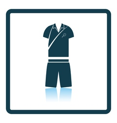 Tennis man uniform icon vector image