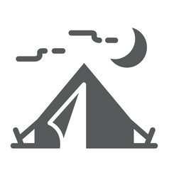 Tourist tent glyph icon travel and tourism vector